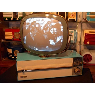 "Philco Predicta TV 17"" Tabletop Television Set With Built-in Clock -"
