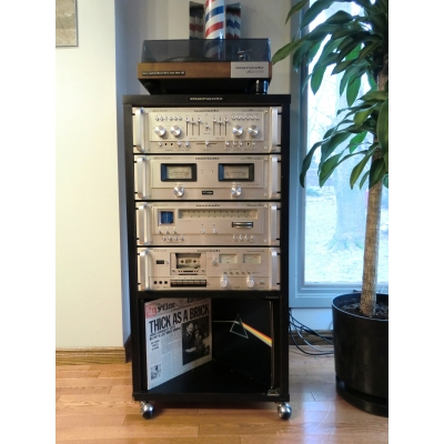 1970 S Silver Face Marantz Component Stereo System With Branded Cabinet