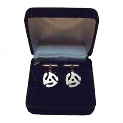 45 RPM Cuff Links -Sterling Silver -